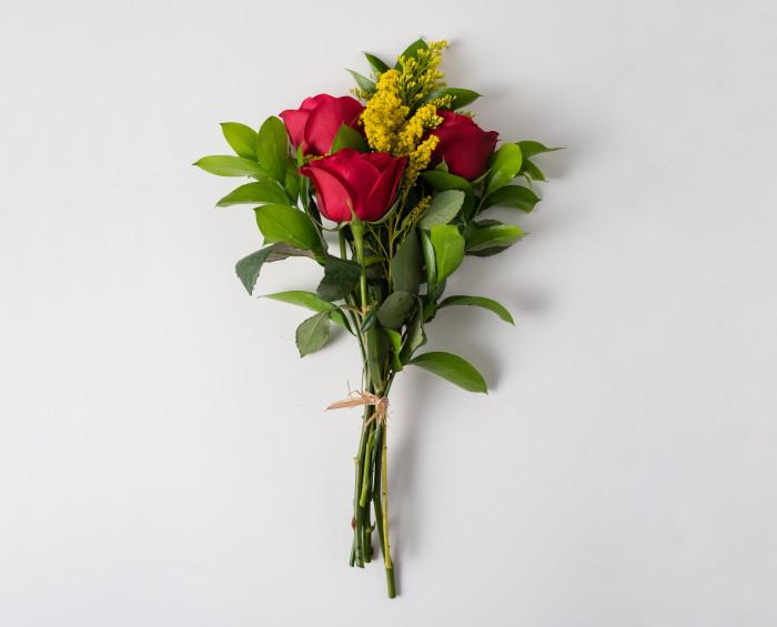 Arranjo de 3 Rosas Vermelhas