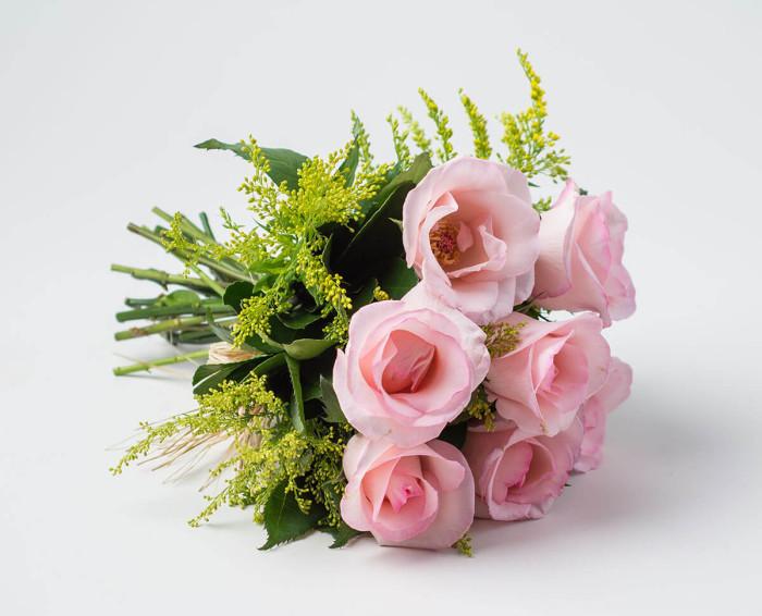 Buquê de 7 Rosas Rosadas
