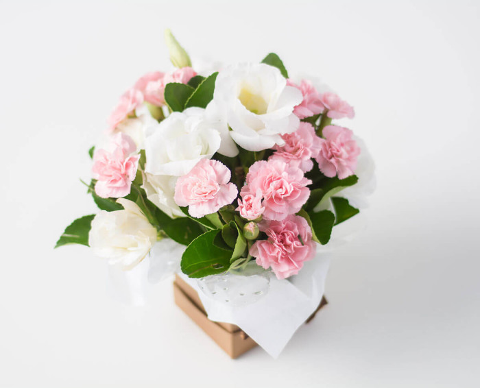 Arranjo de Flores do Campo em Tons Rosados